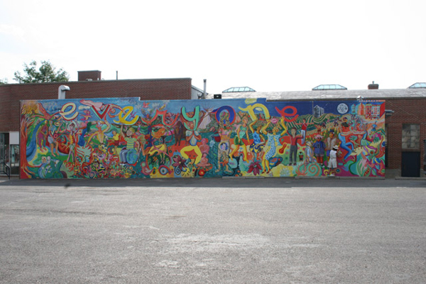 View of entire mural